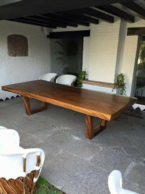 Mesas de madera parota a la medida. Somos fabricantes