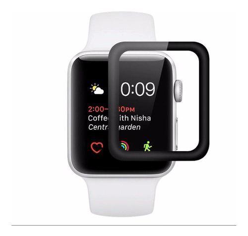 Mica Cristal Templada Apple Watch Curva 5d 38 40 42 44 Negra