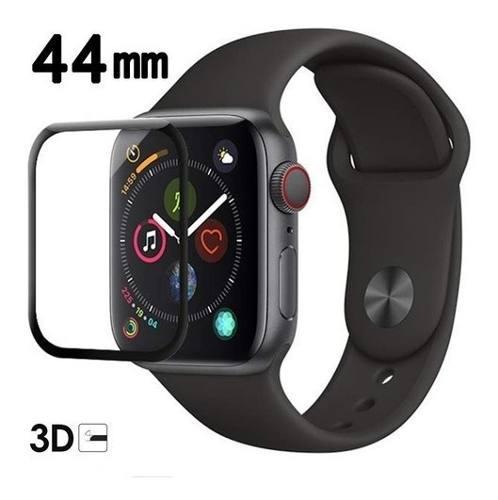 Mica Cristal Templado Apple Watch 44mm Curvo 3d Full Glue