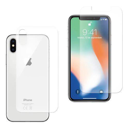 Mica De Cristal Templado Para iPhone Xs Delantera Trasera