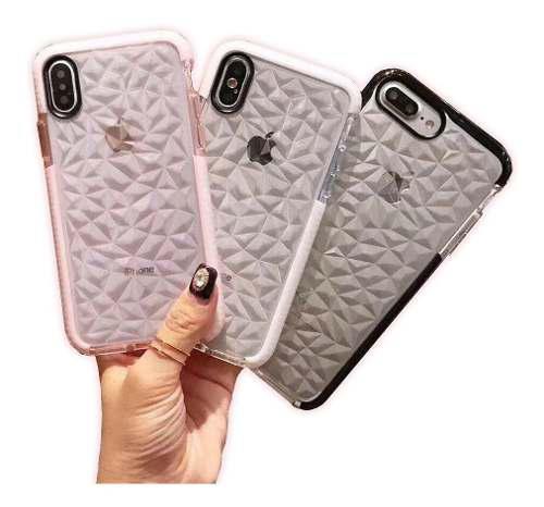 Mica + Funda Acabado Diamante 3d iPhone 6 6s 7 8 X Xs Max Xr