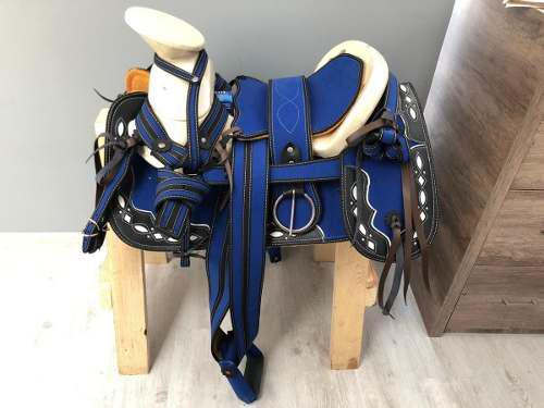 Montura Para Caballo O Silla Charra Azul Rey Envío Gratís