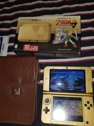 Nintendo 3ds Edición Especial Zelda + Smash Y Estuche