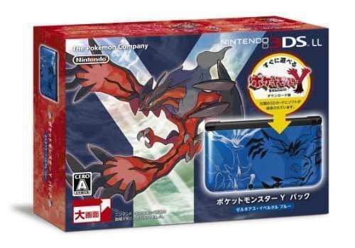 Nintendo 3ds Ll Pocket Monsters Y Pack Xerneas Yveltal Blue