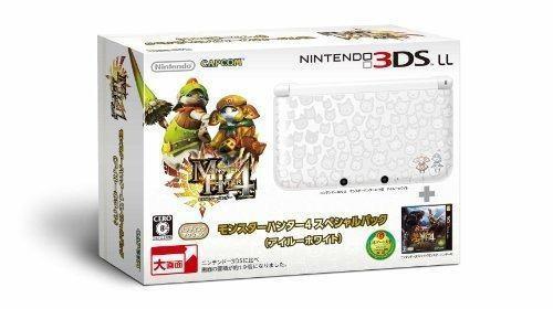Nintendo 3ds Monster Hunter 4 Special Pack Airou White Japan
