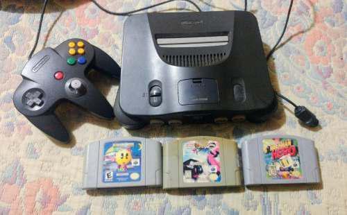 Nintendo 64 Con 3 Juegos Y Control