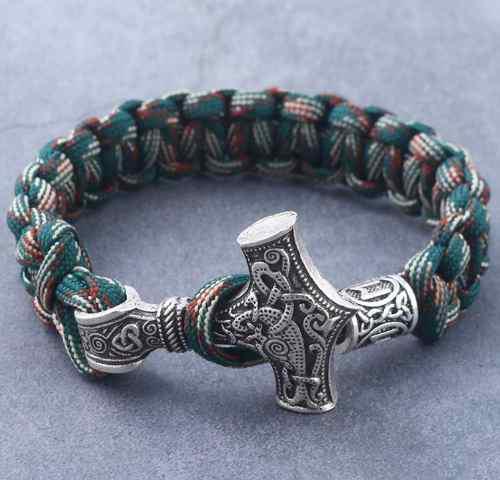 Pulsera Brazalete Amuleto Thor Vikingo Cosplay Unisex