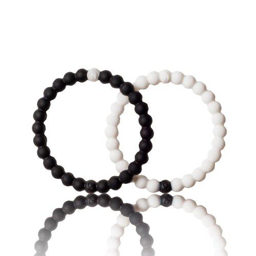 Pulsera Brazalete Color Negro Y Blanco Talla M Pack!!!