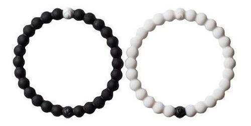 Pulsera Brazalete Color Negro Y Blanco Talla M Paquete