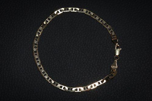 Pulsera Esclava Brazalete Tejido Gucci Oro 10k 21 Cm6.3g5mm
