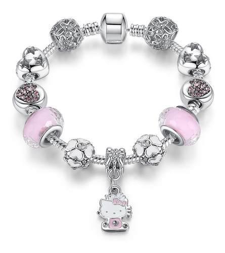 Pulsera Estilo Pandora Hello Kitty Con 11 Charms Ps3712
