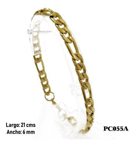 Pulsera Tipo Cartier 21cms Acero Inoxidable Dorado