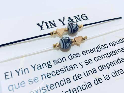 Pulsera Yin Yang Del Amor Pareja Precio Por El Par