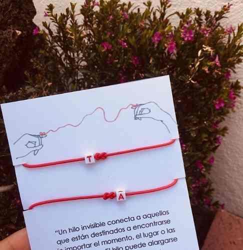 Pulseras De Hilo Rojo Del Destino Personalizado Con Envio