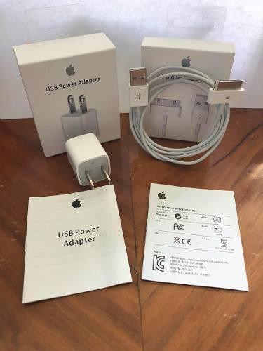 Set Cargador Completo 30 Pin Original Apple iPhone 4