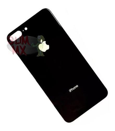 Tapa Trasera iPhone 8 Plus De Cristal A1864 A1897 Gris Espac