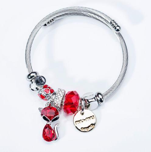 Wg Pulsera Brazalete Moda Tipo Pandora Mayoreo Charm Bz002