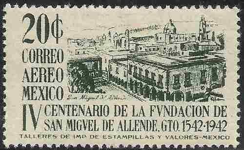 1943 Fundación De San Miguel Allende Sc. C129 Mnh