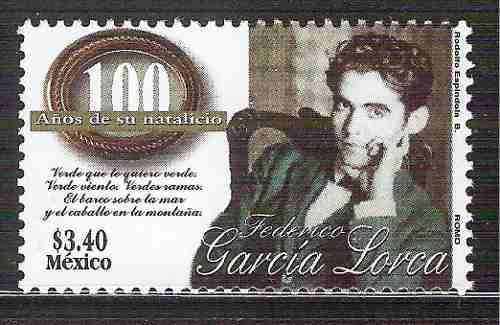 1998 Federico García Lorca Poeta Escritor Sc 2078 Mnh