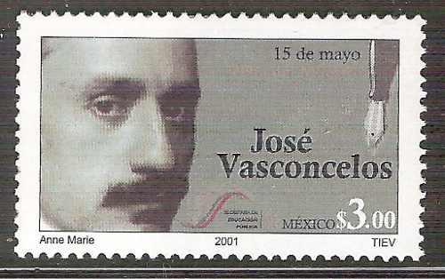 2001 José Vasconcelos Día Del Maestro Escritor Sc 2226 Mnh