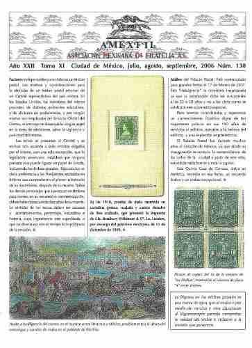 2006 Revista Especializada De Filatelia Amexfil #130 Nueva
