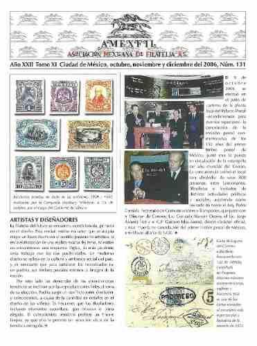 2006 Revista Especializada De Filatelia Amexfil #131 Nueva