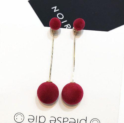 Aretes De Pompon Doble Pompones - Modelos Ah