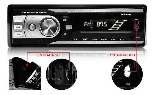 Audiobahn Auto Estereo Linea Dub Bluetooth Usb Sd Radio Fm