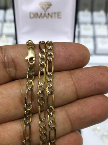 Cadena Oro 10k 3x1 Diamantada Solida 100%oro 12 Gramos 60cm