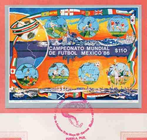 Campeonato De La Copa Mundial México 86 Timbre