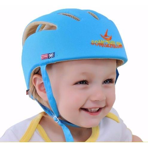 Casco Protector De Seguridad Para Bebes Y Niños Azul