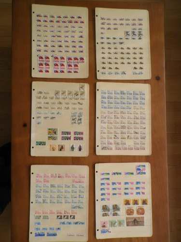 Colección De 835 Sellos Postales En Carpeta - Asia Y