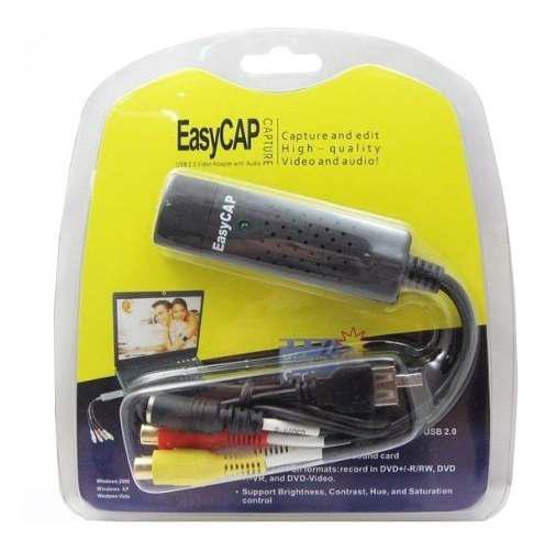 Easycap Tarjeta Capturadora Usb 2.0 Rca Audio Video A Laptop