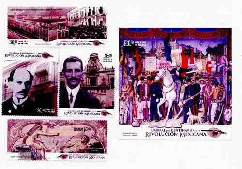 Estampilla Umbral Centenario De La Revolucion Mexicana #7