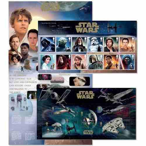Estampillas Star Wars 2015 Pack En Coleccionador