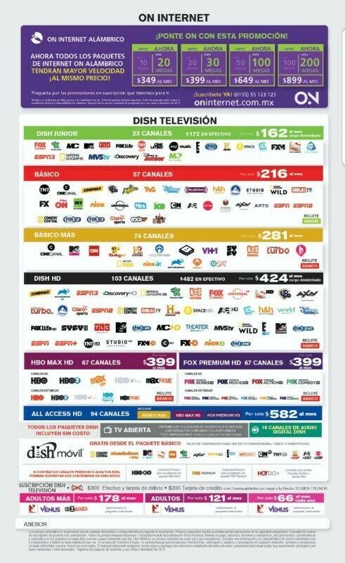 INTERNET Y TV DISH CHIMALHUACAN