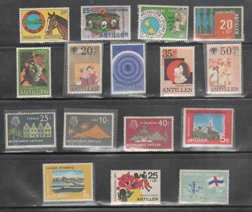 L532- Antillas Holandesas Lote 16 De Timbres Nuevos-
