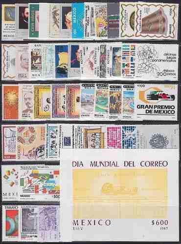 Mexico 1987 Timbres Del Año Conmemorativos Cpl. Nuevos