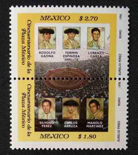 Mexico 1996 Plaza De Toros Mexico Toreros Timbres Nuevos Imp
