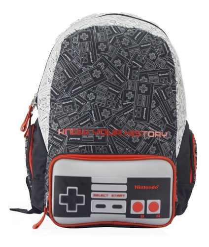 Mochila Escolar Mario Bros Ness Nintendo Mb Full