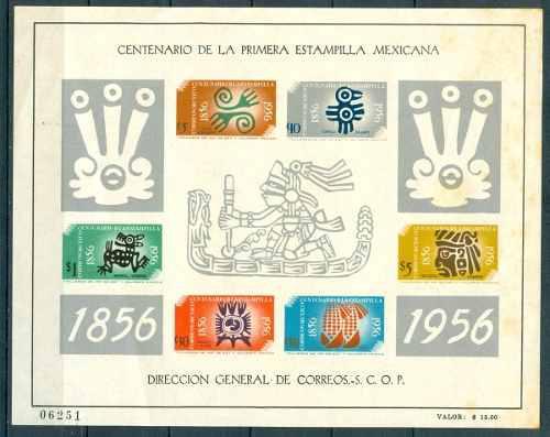Sc 896 A Año 1956 Centenario De La Primera Estampilla En
