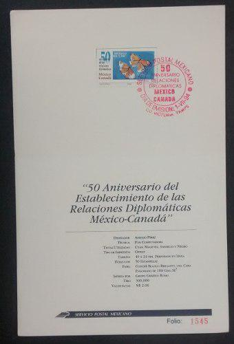 Timbre Postal Sello Estampilla 50 Aniversario Del