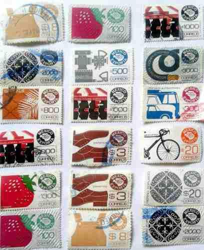 Timbres Postales Coleccion Mexico Exporta 1991