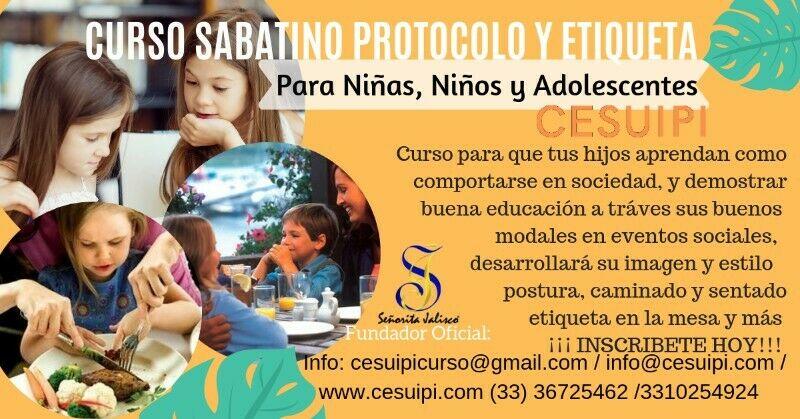 CURSO DE PROTOCOLO Y ETIQUETA PARA NIÑAS, NIÑOS Y