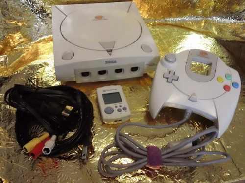 Consola Dreamcast Con Control, Memoria Y 5 Juegos Originales