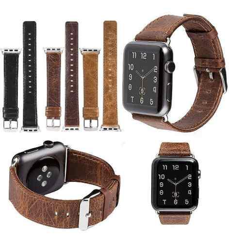 Correa De Piel Para Apple Watch Series 1 2 3 4 38/40/42/44mm