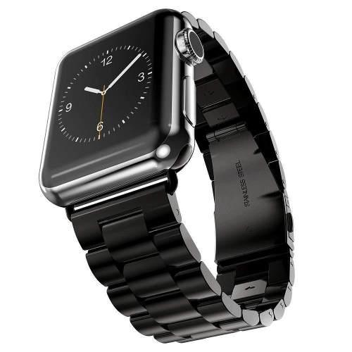Correa Extensible Eslabon Para Apple Watch 38-40 42-44 Acero
