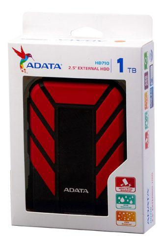 Disco Duro Externo 1tb Adata Hd710 Pro Contra Golpes Rojo