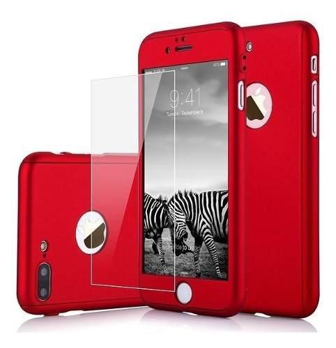 Funda 360 iPhone 6, 6 Plus, 7, 7 Plus, 8, 8 Plus X + Cristal