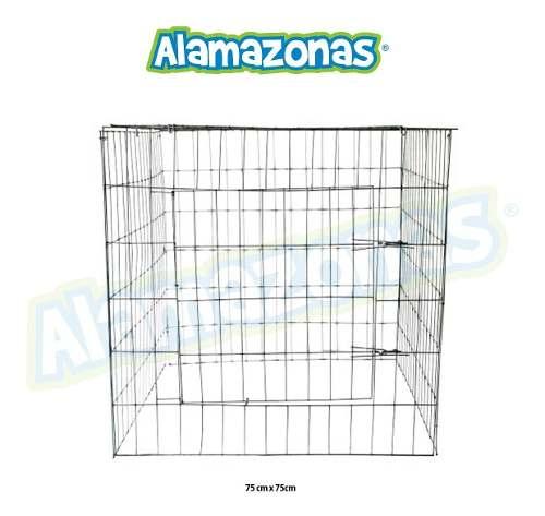 Jaula Rascadero Para Aves (gallos, Palomas) 75x75cm 1 Pz